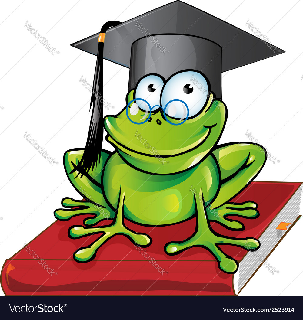Wise frog cartoon vector | Price: 1 Credit (USD $1)