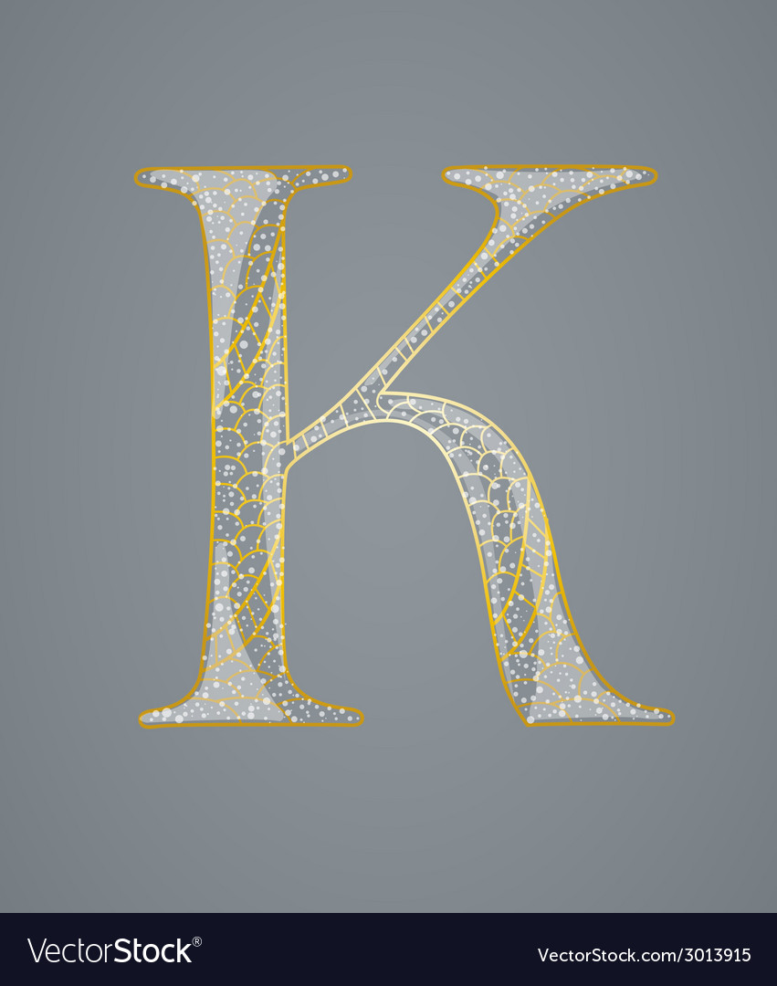 Abstract golden letter k vector | Price: 1 Credit (USD $1)