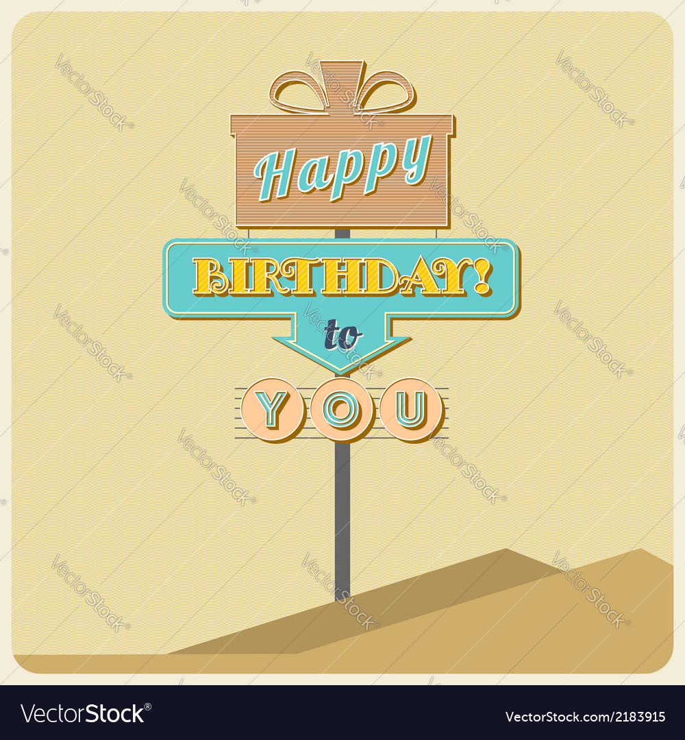 Birthday greetings sign vector | Price: 1 Credit (USD $1)