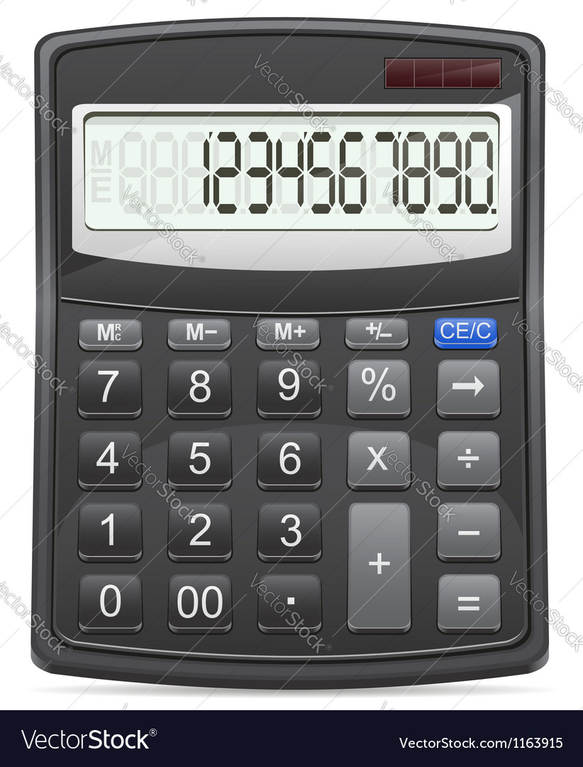 Calculator 01 vector | Price: 1 Credit (USD $1)