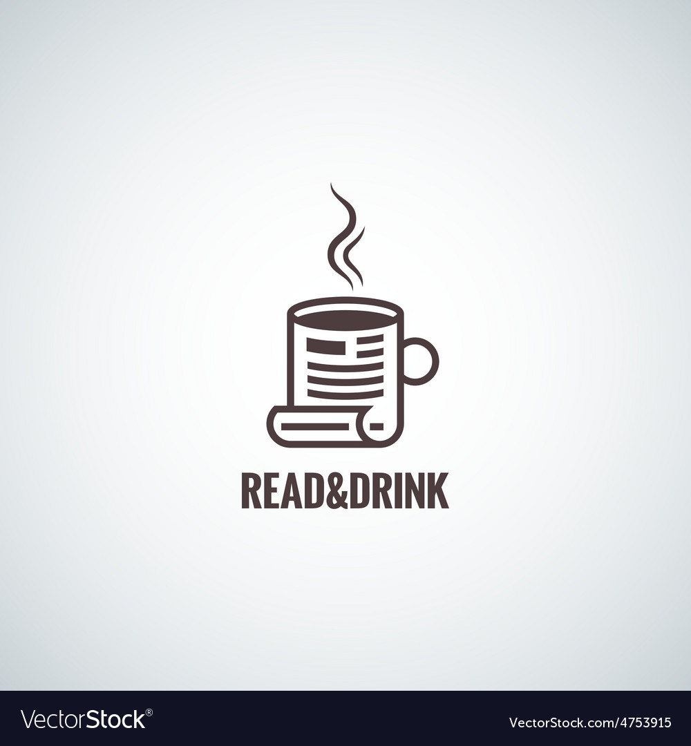 Coffee cup concept reading background vector | Price: 1 Credit (USD $1)