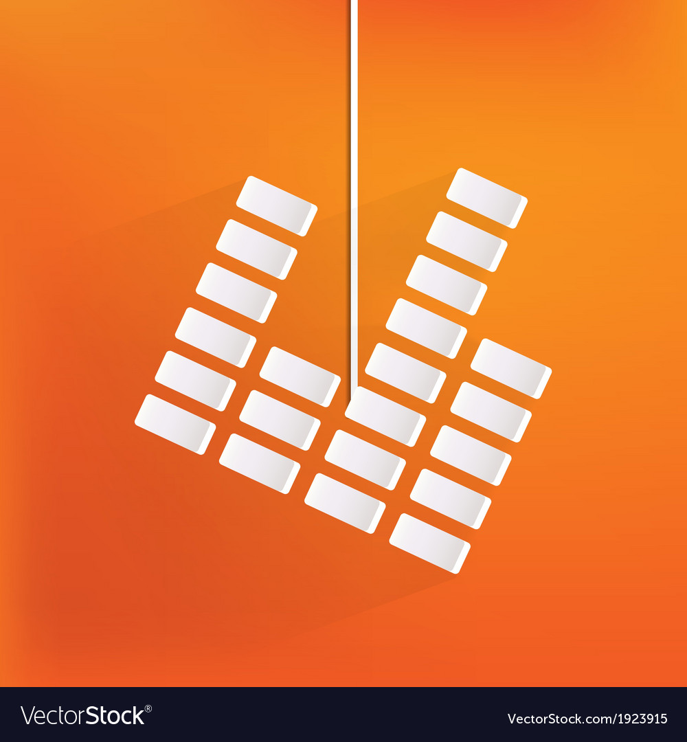 Equalizer icon music sound wave symbol vector | Price: 1 Credit (USD $1)