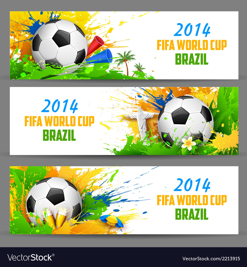 Fifa world cup banner vector | Price: 1 Credit (USD $1)