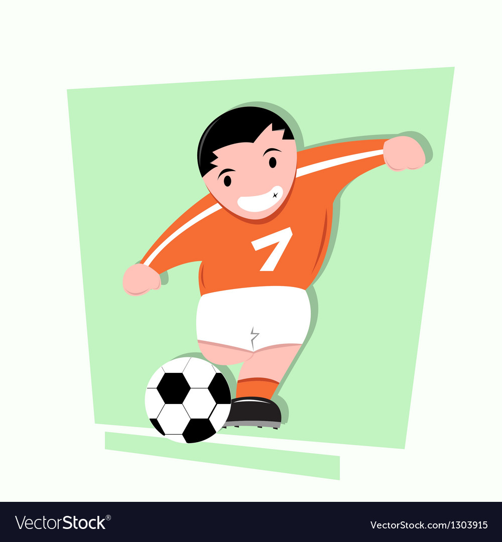 Funny little kids play soccer vector | Price: 1 Credit (USD $1)