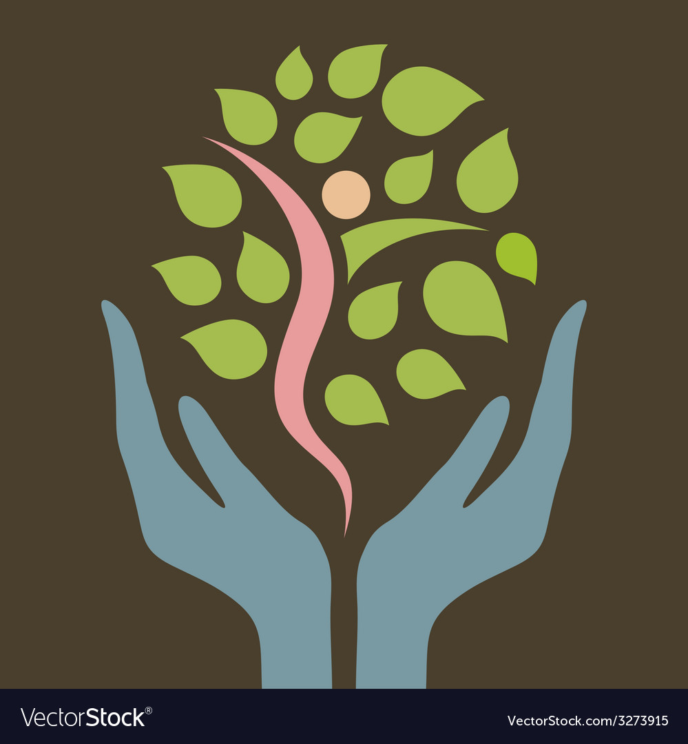 Hand the nature vector | Price: 1 Credit (USD $1)