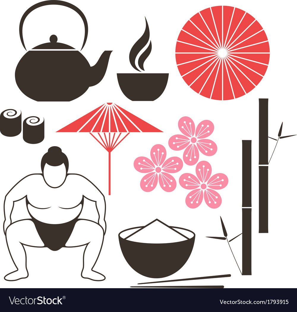 Japanese culture vector | Price: 1 Credit (USD $1)