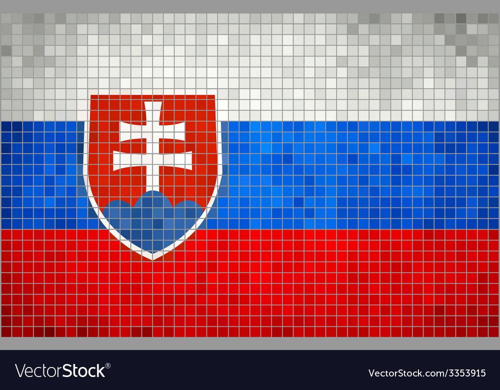 Mosaic flag of slovakia vector | Price: 1 Credit (USD $1)
