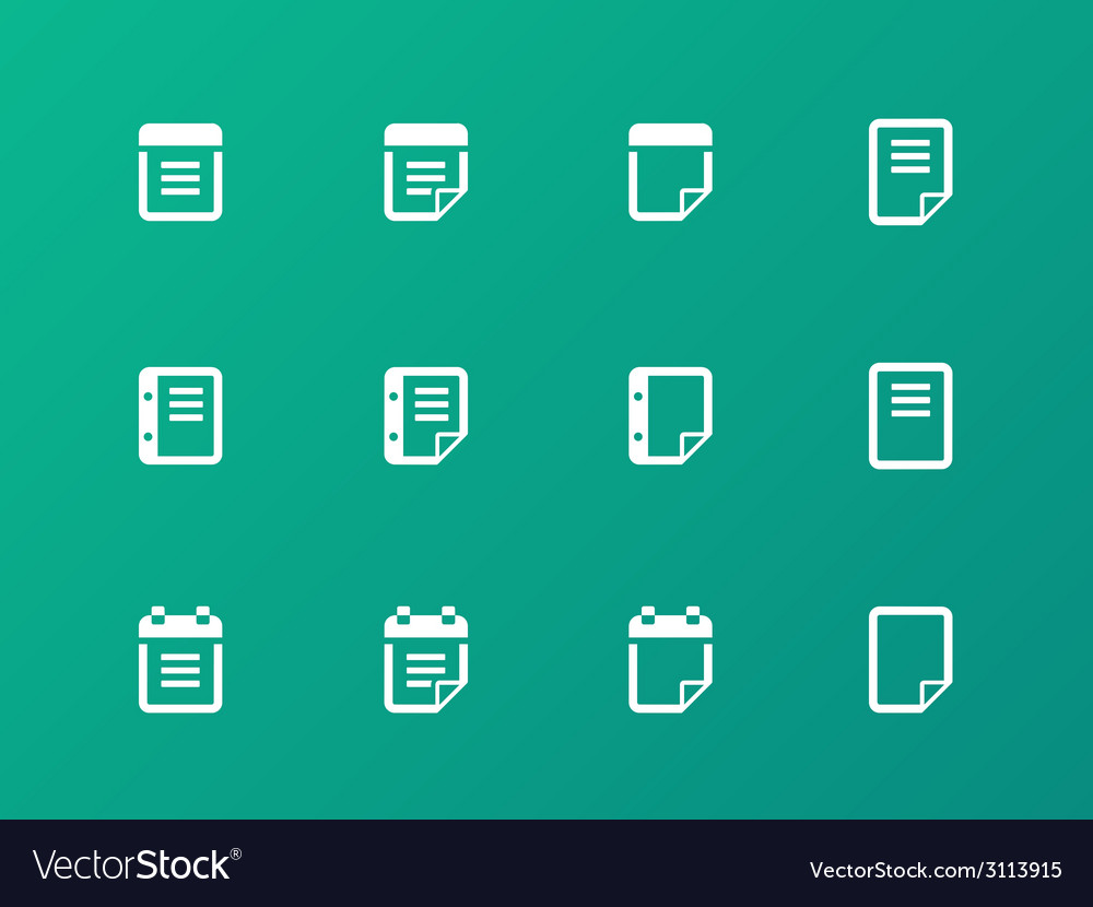 Notepad and sticky note icon set vector | Price: 1 Credit (USD $1)