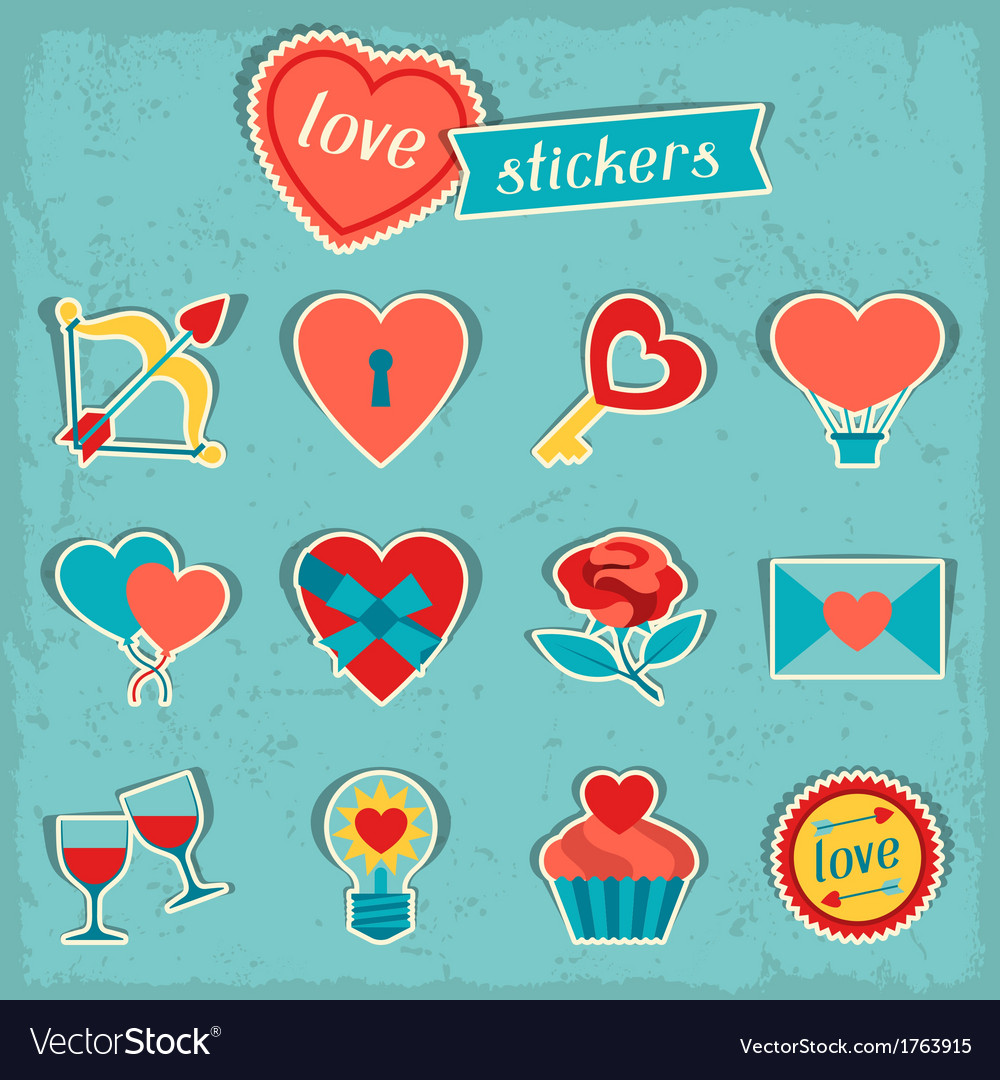 Set of valentines and wedding icons design vector | Price: 1 Credit (USD $1)