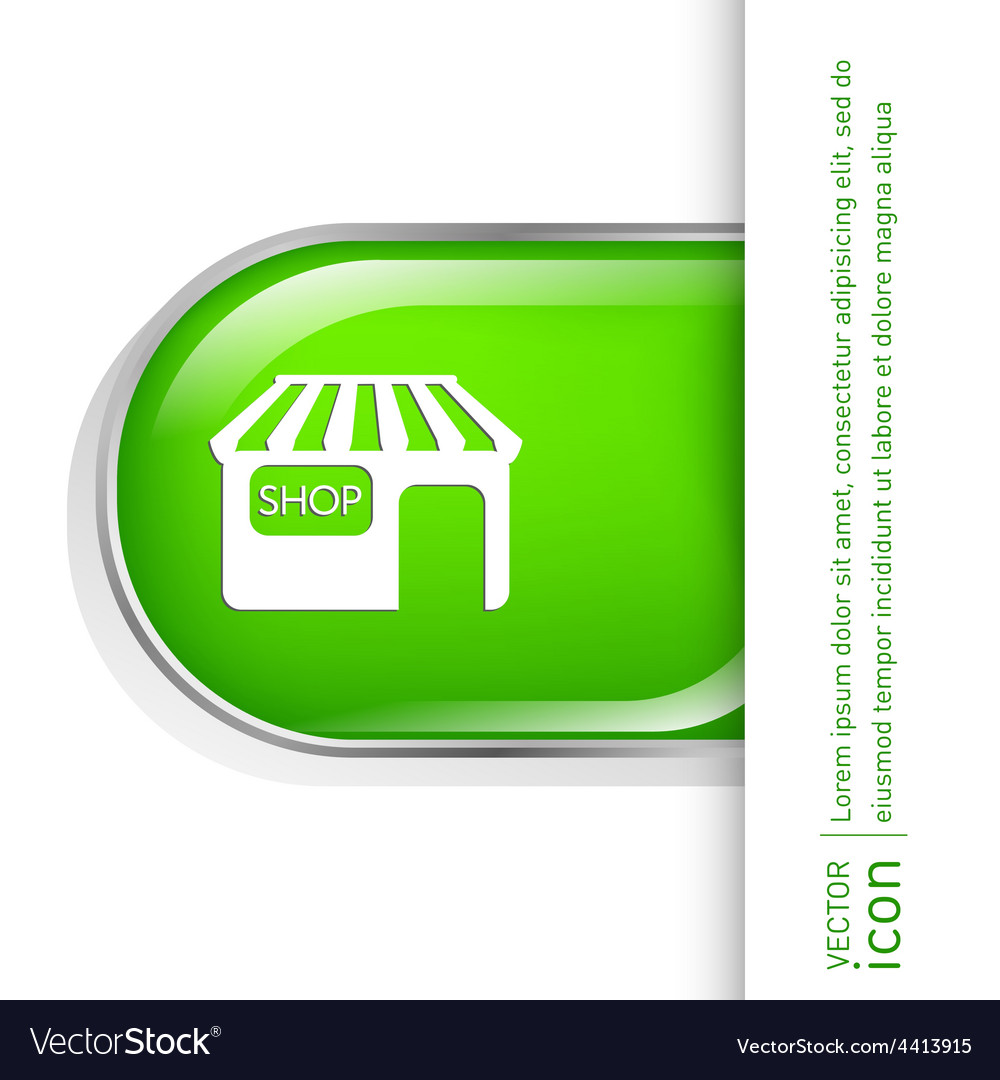 Shop building symbol icon store shopping and vector   Price: 1 Credit (USD $1)