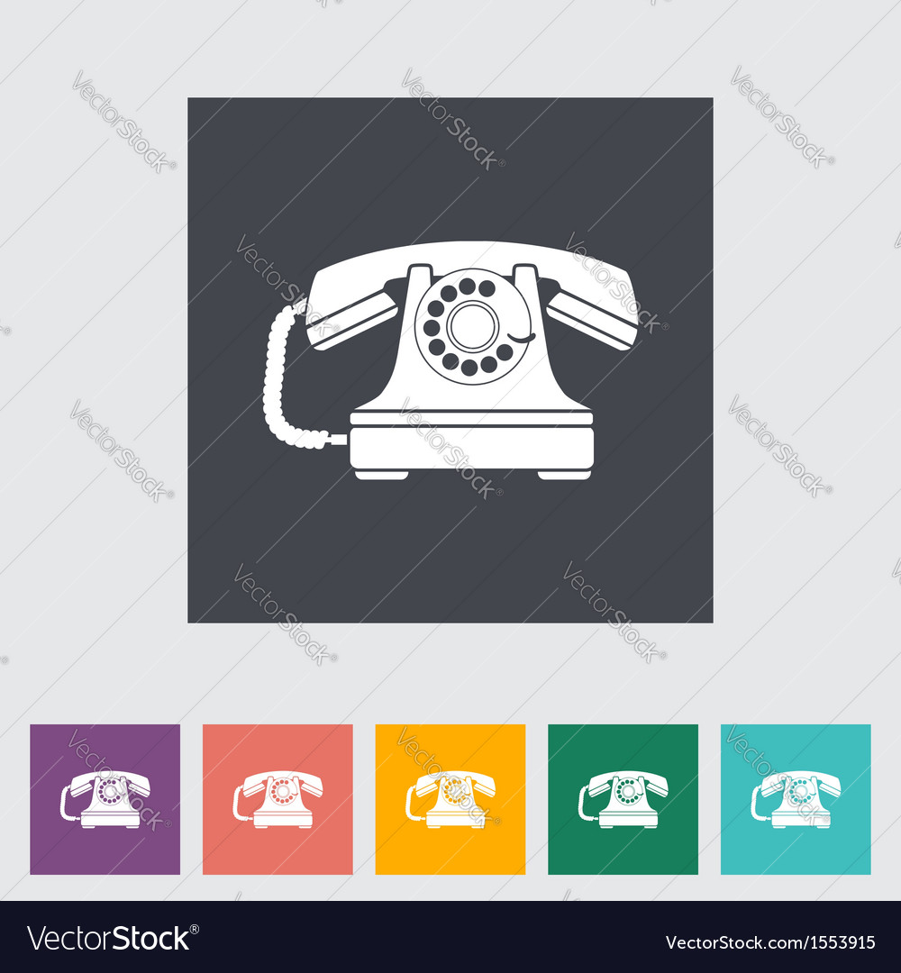 Vinage phone vector | Price: 1 Credit (USD $1)