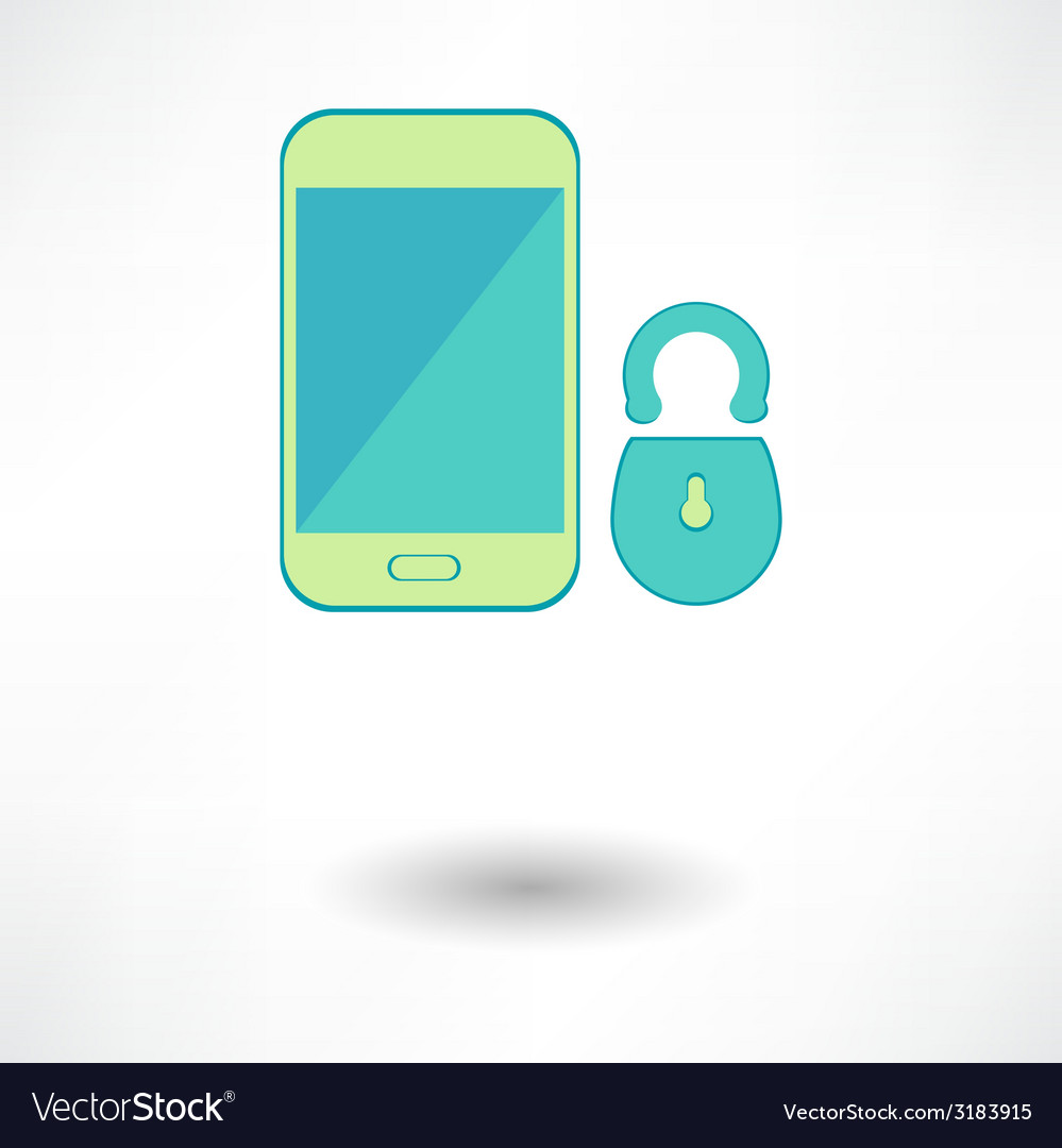 White smart phone infographic element with lock vector | Price: 1 Credit (USD $1)