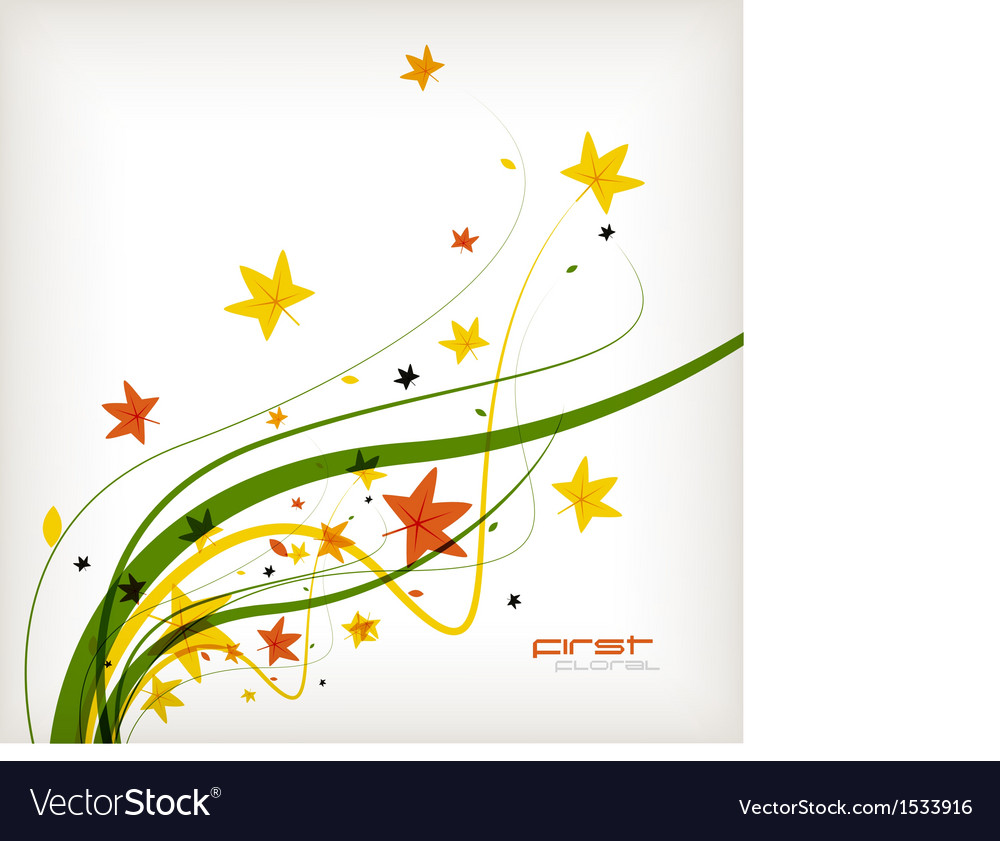 Autumn leaves nature background vector | Price: 1 Credit (USD $1)