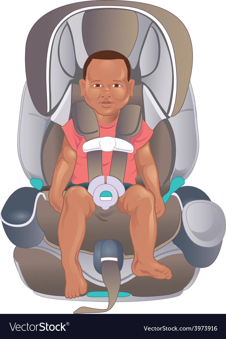 Child in safety seat vector | Price: 1 Credit (USD $1)
