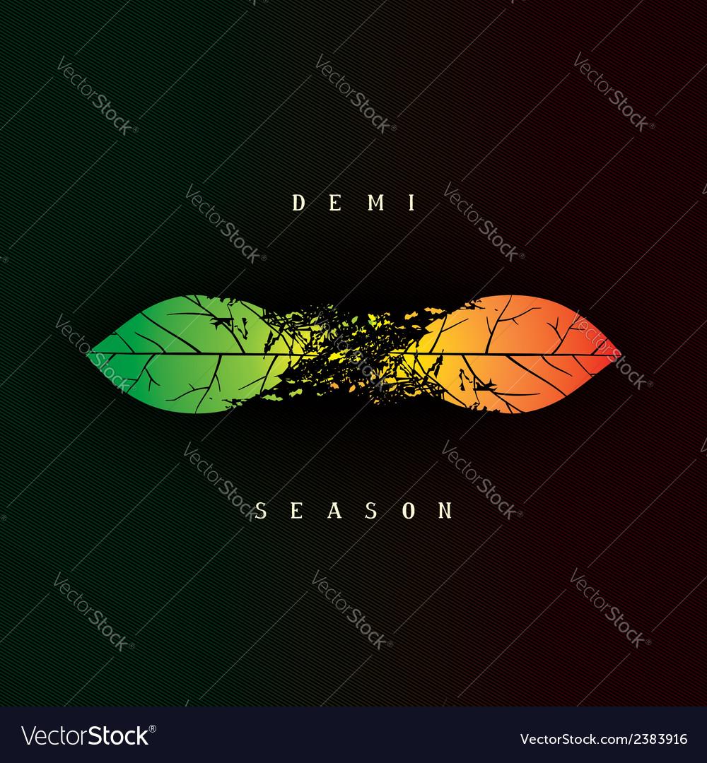 Demi seasonal creative design vector | Price: 1 Credit (USD $1)