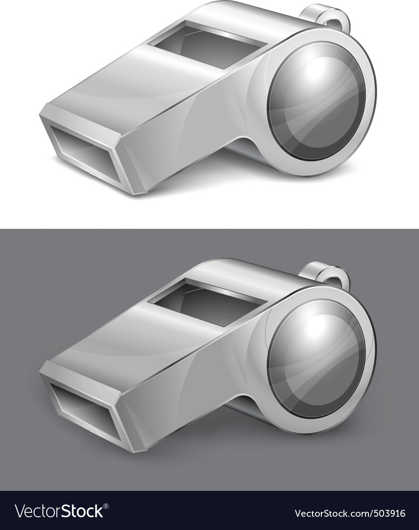 Gray whistle vector | Price: 1 Credit (USD $1)