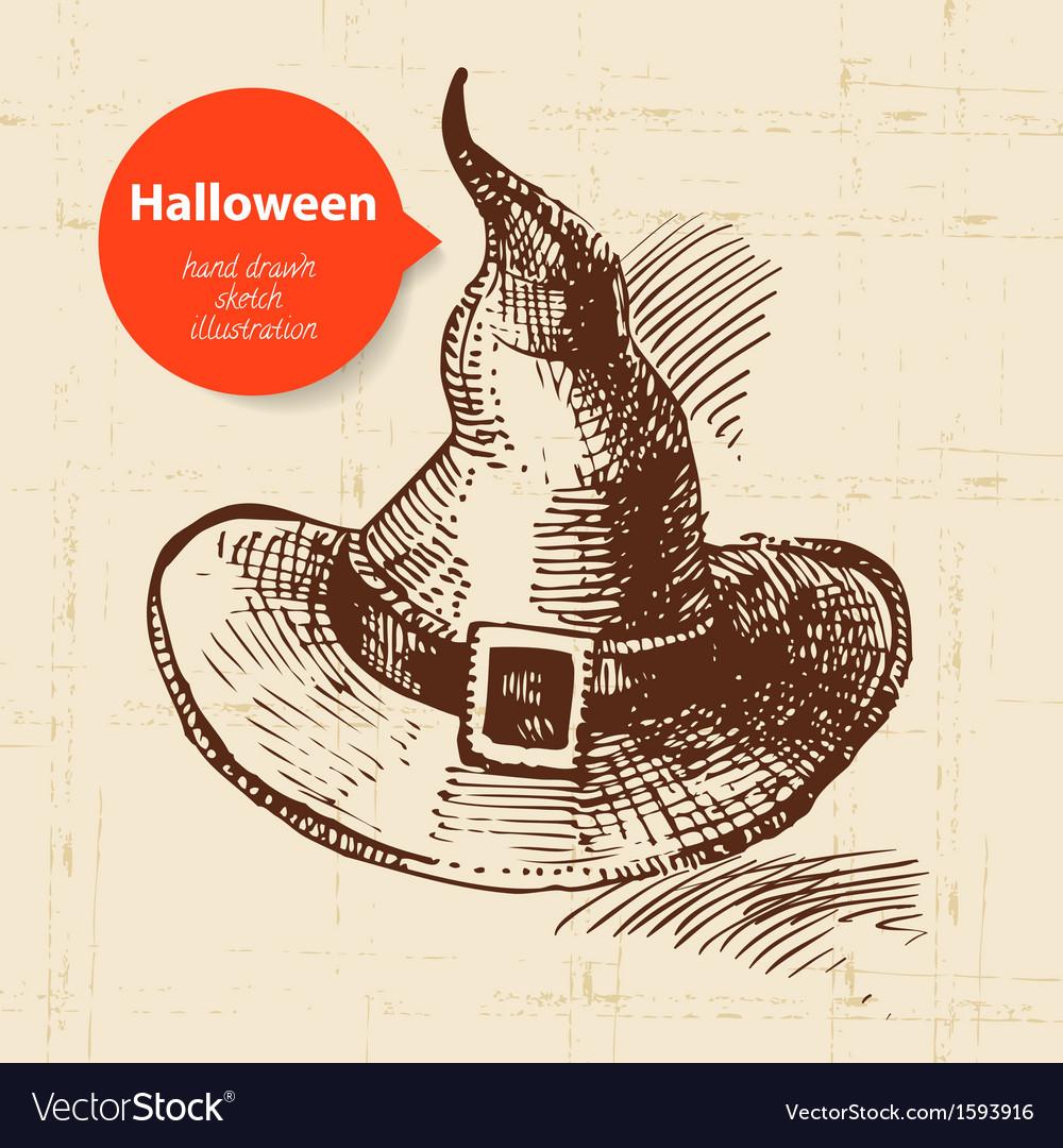 Hand drawn halloween background vector | Price: 1 Credit (USD $1)