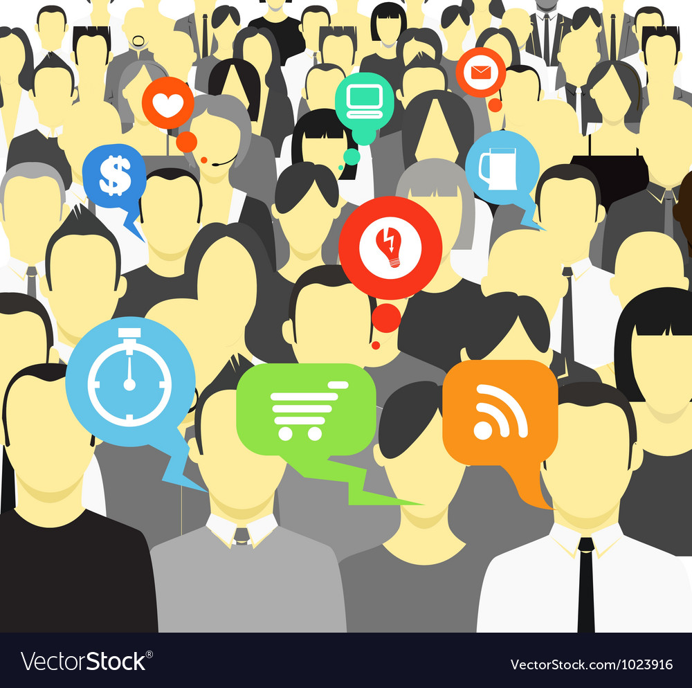 Hinking people in a crowd vector | Price: 1 Credit (USD $1)
