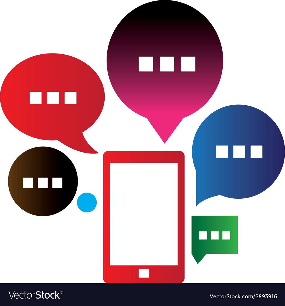 Mobile chat vector | Price: 1 Credit (USD $1)