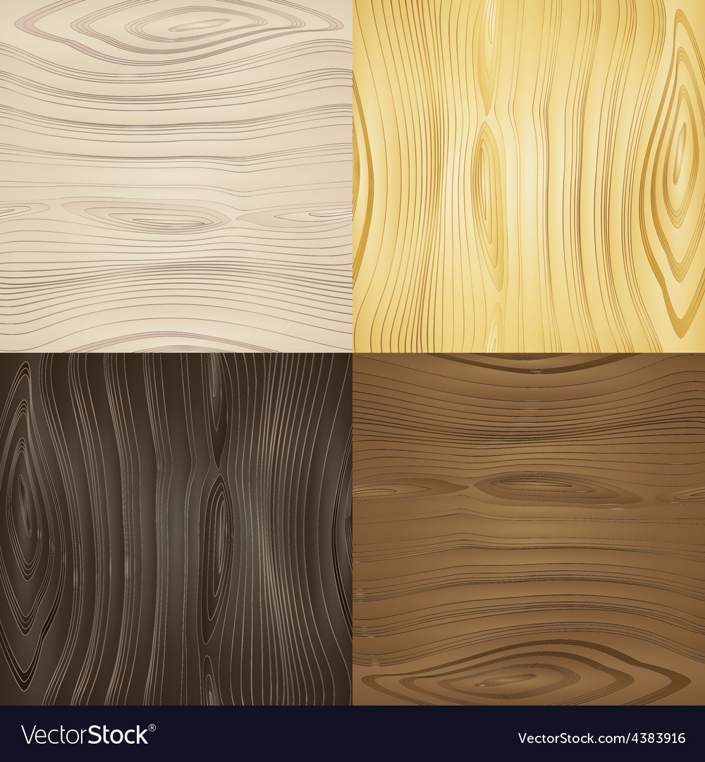 Set of seamless wood textures vector | Price: 1 Credit (USD $1)