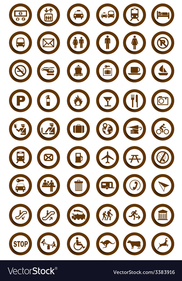 Tourist information icons vector | Price: 1 Credit (USD $1)