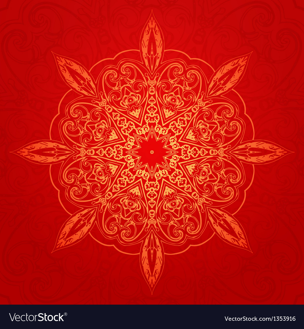 Vintage ethnic ornament mandala background vector | Price: 1 Credit (USD $1)