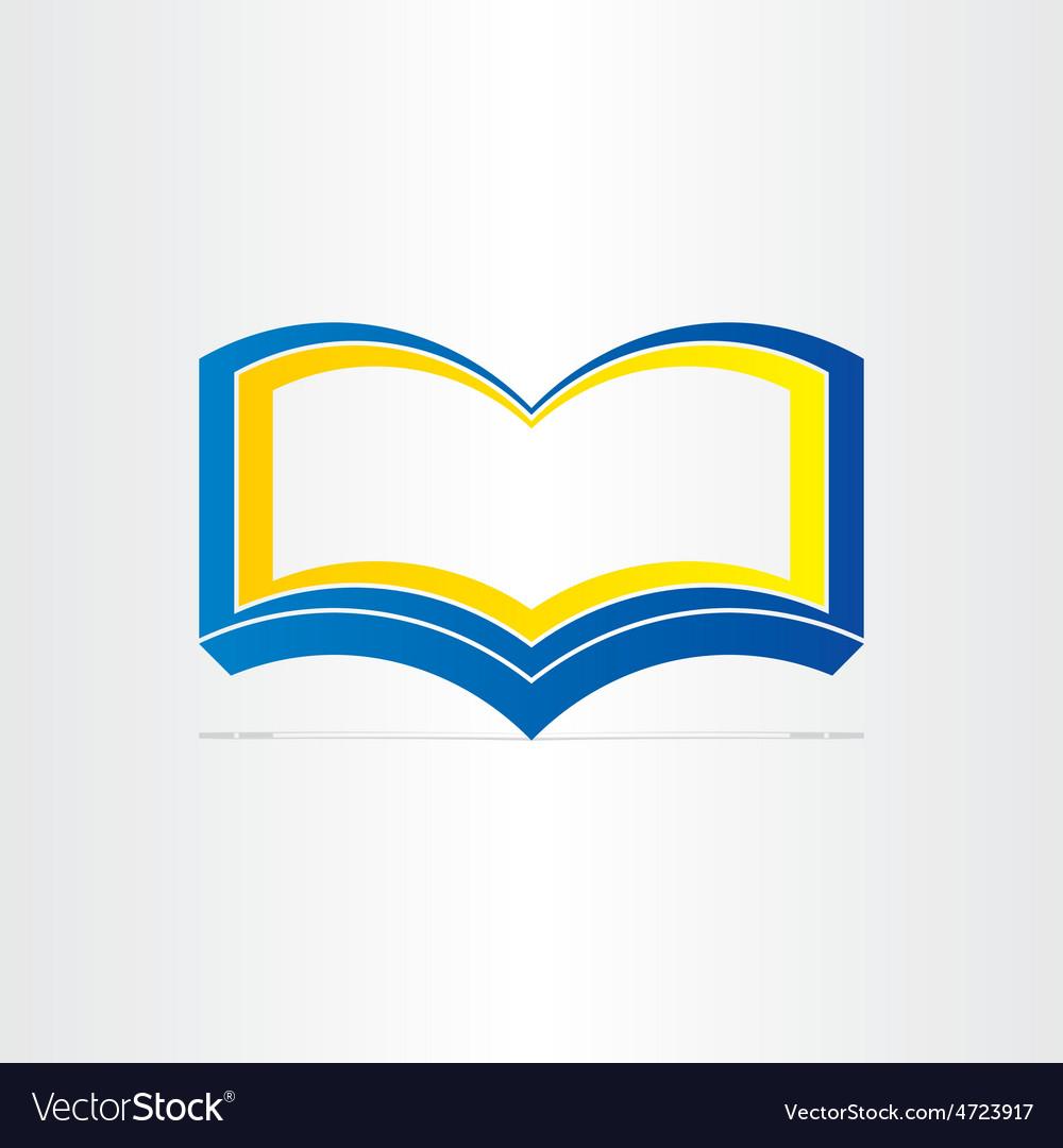 Blue open book symbol vector | Price: 1 Credit (USD $1)