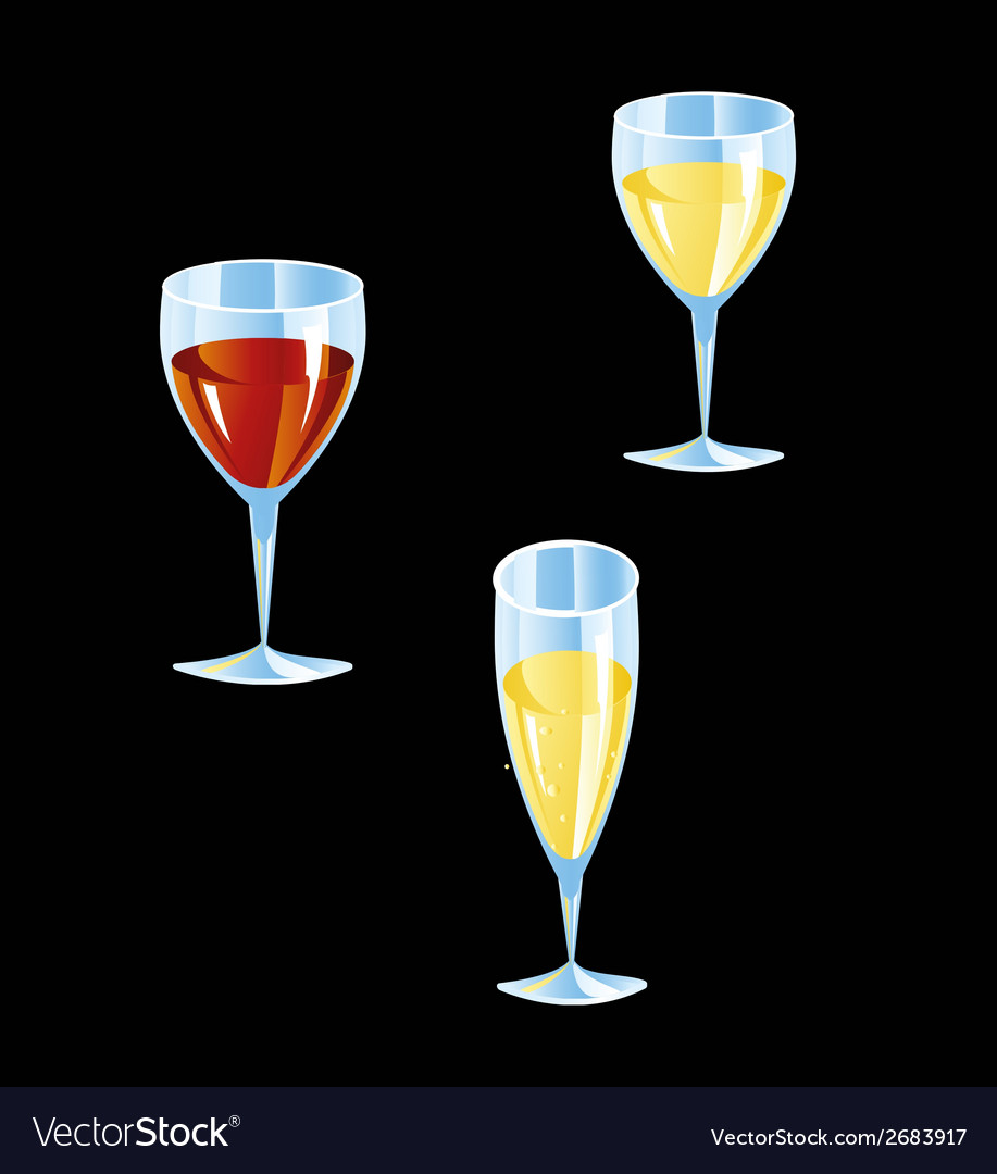 Cocktail collection isolated vector | Price: 1 Credit (USD $1)