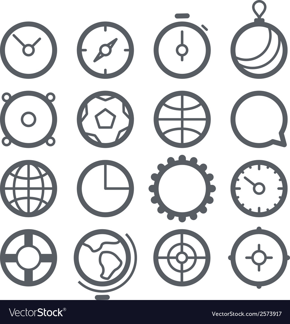 Different web icons set isolated on white vector | Price: 1 Credit (USD $1)