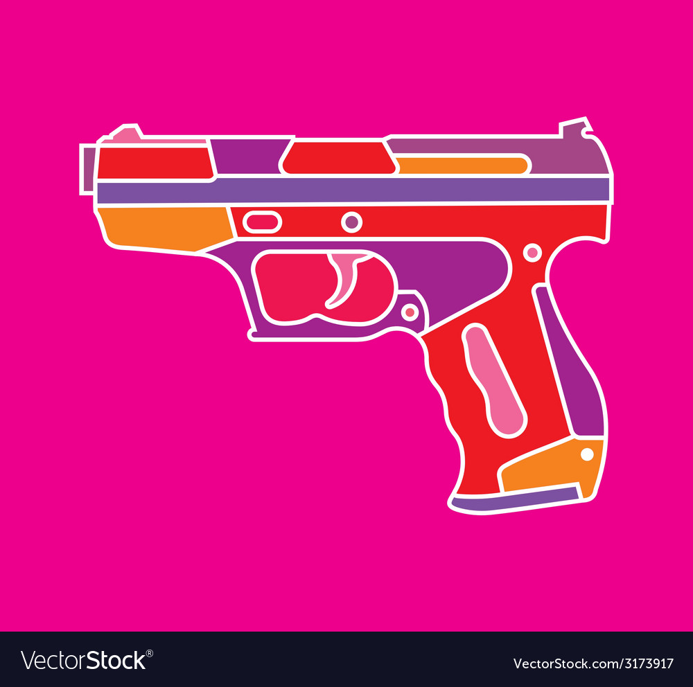 Handgun on purple vector | Price: 1 Credit (USD $1)
