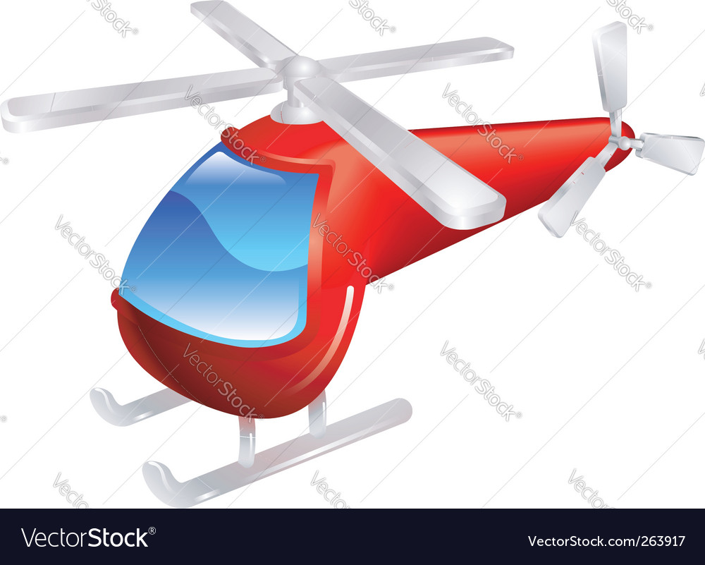 Helicopter illustration vector | Price: 1 Credit (USD $1)