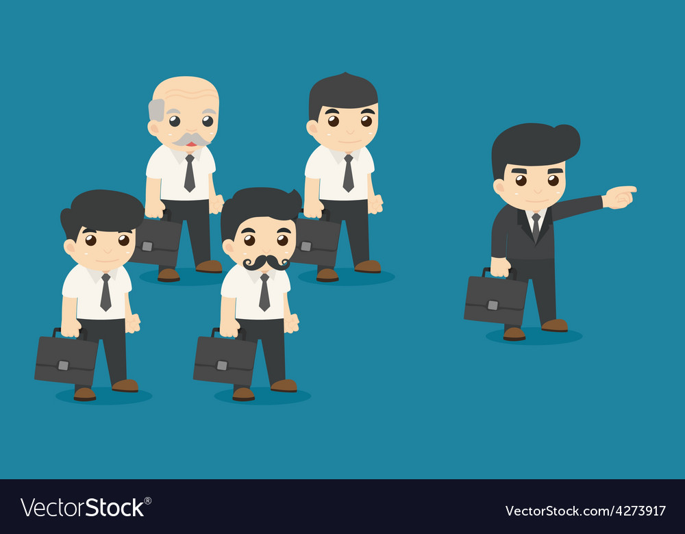 Leader on his way to success vector | Price: 1 Credit (USD $1)