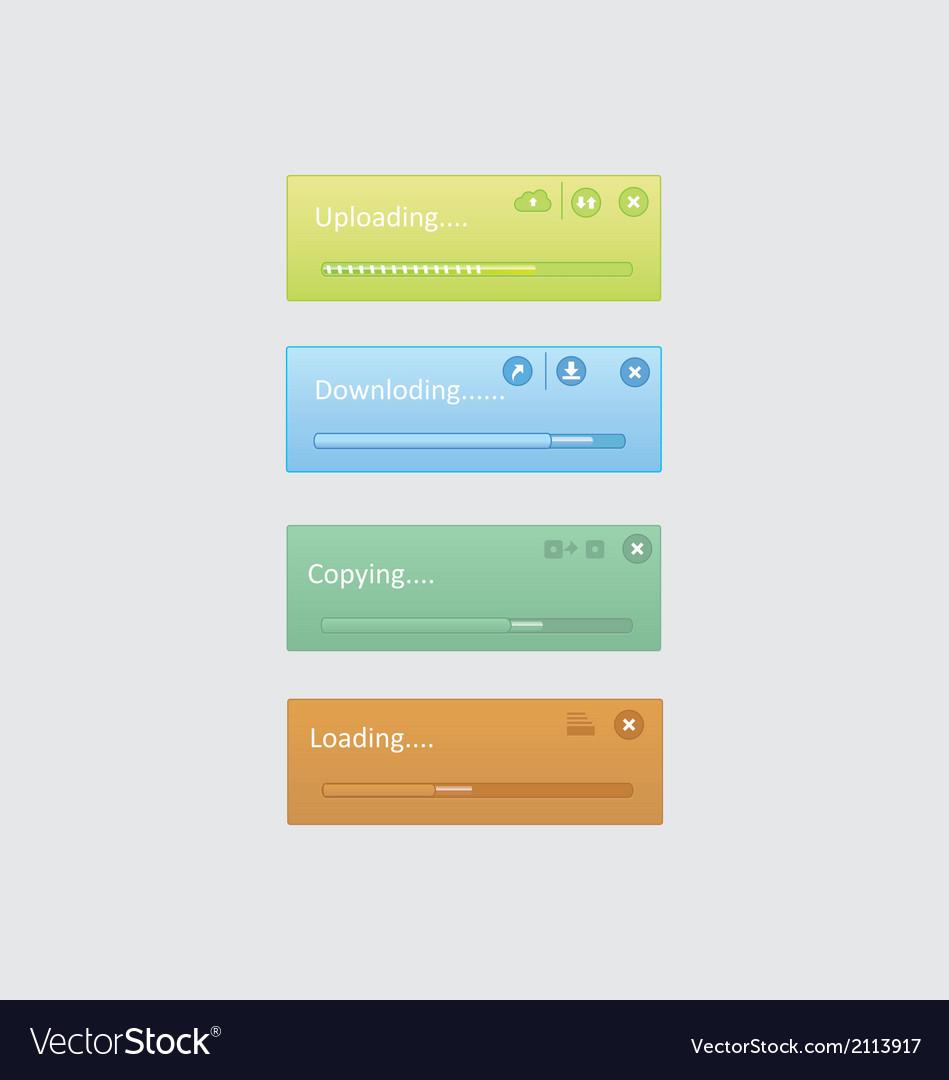 Progress bar inferfaces vector | Price: 1 Credit (USD $1)