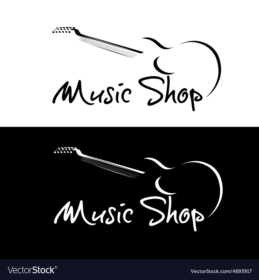 Set of music shop emblems vector | Price: 1 Credit (USD $1)
