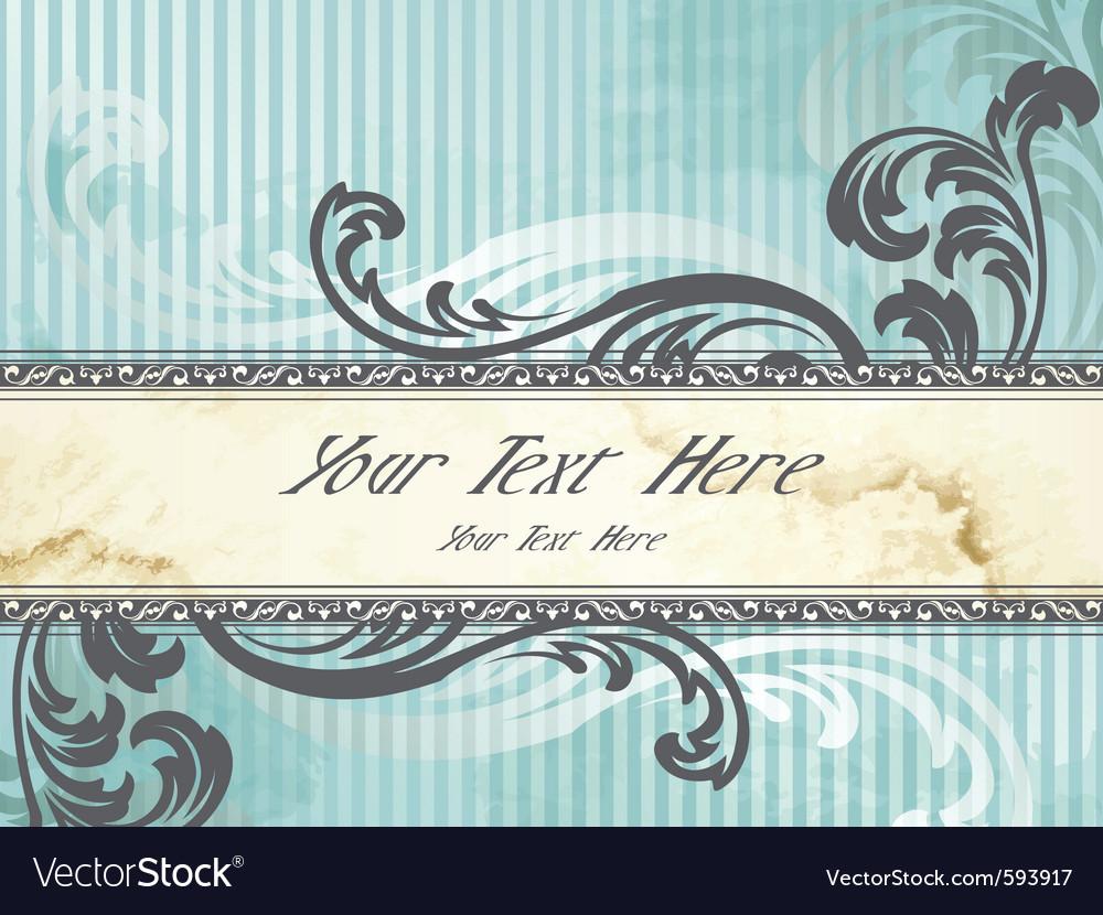 Silver victorian vintage banner vector | Price: 1 Credit (USD $1)