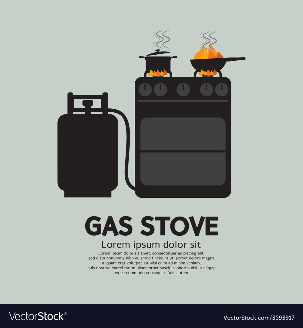 Two stoves with gas vector | Price: 1 Credit (USD $1)
