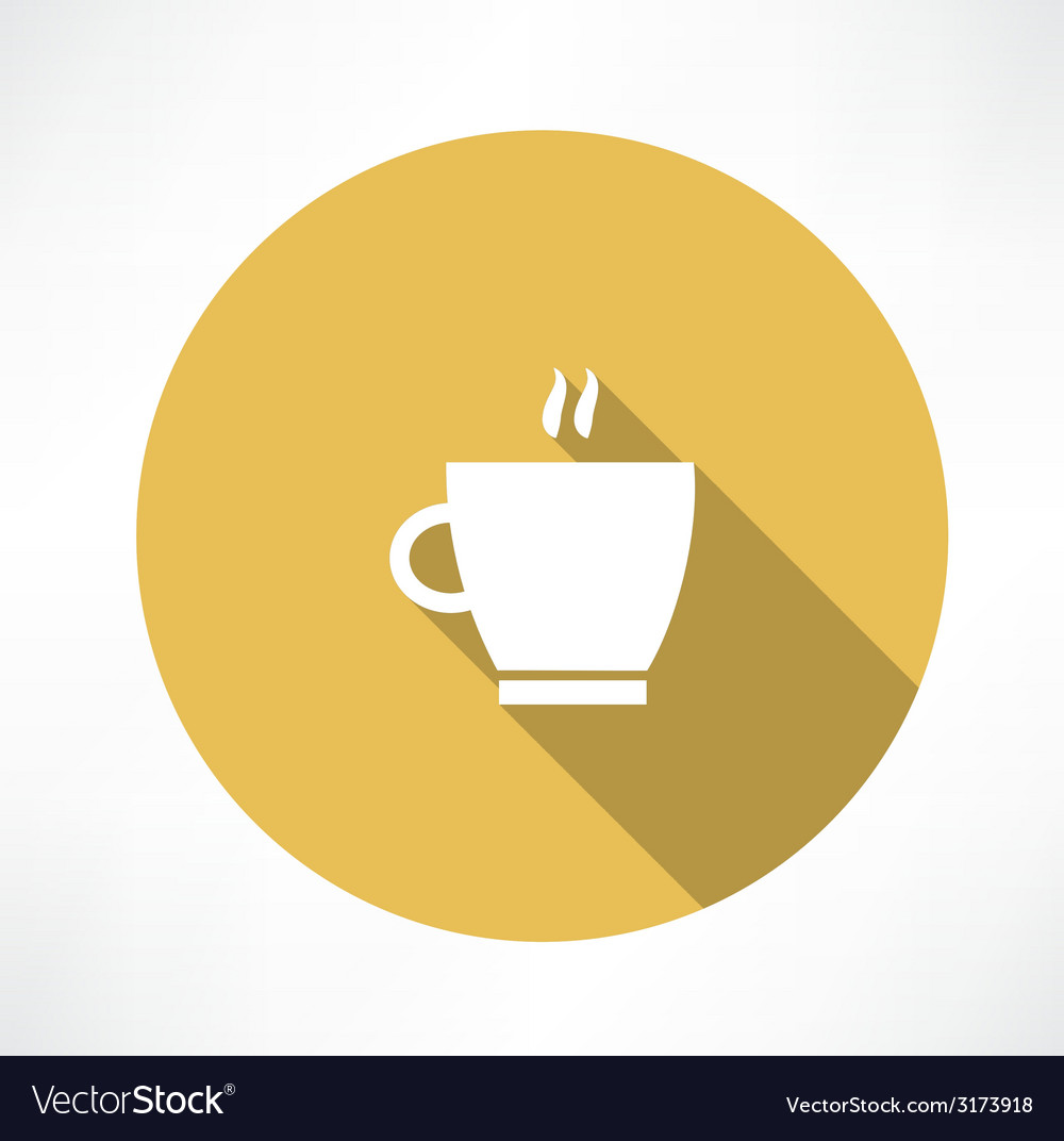 Coffee cup steam icon vector | Price: 1 Credit (USD $1)