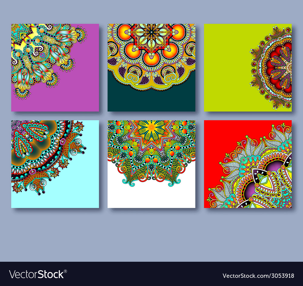Collection of decorative floral greeting cards in vector | Price: 1 Credit (USD $1)