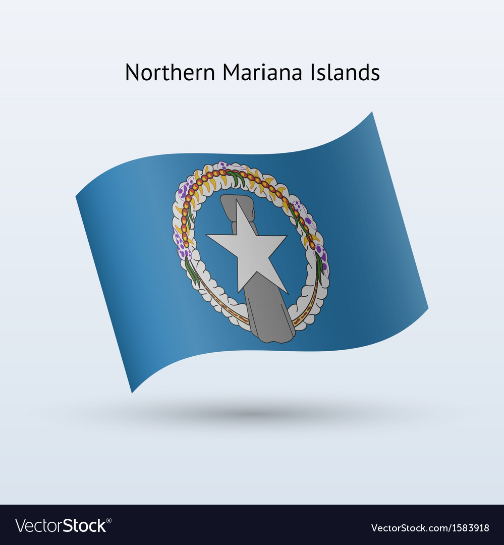 Northern mariana islands flag waving form vector | Price: 1 Credit (USD $1)