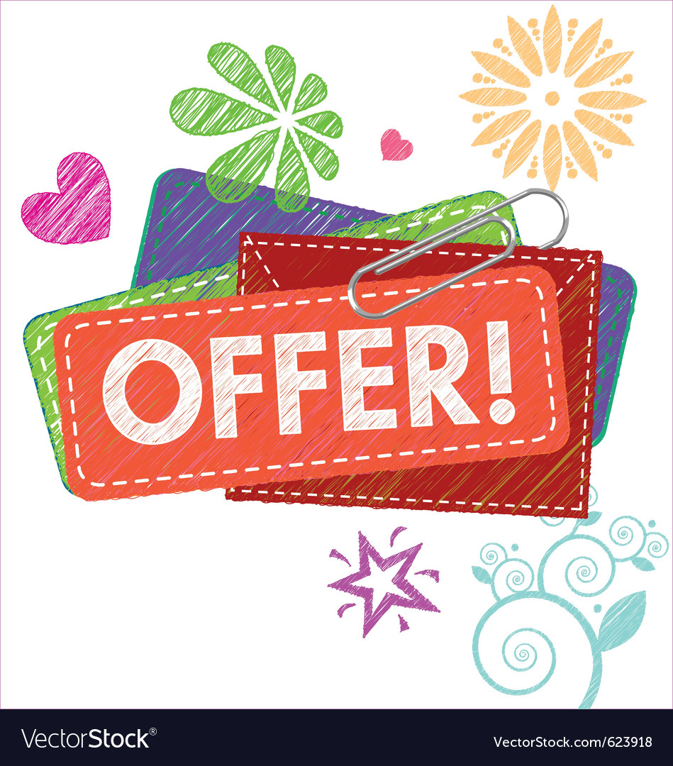 Offer card vector | Price: 1 Credit (USD $1)