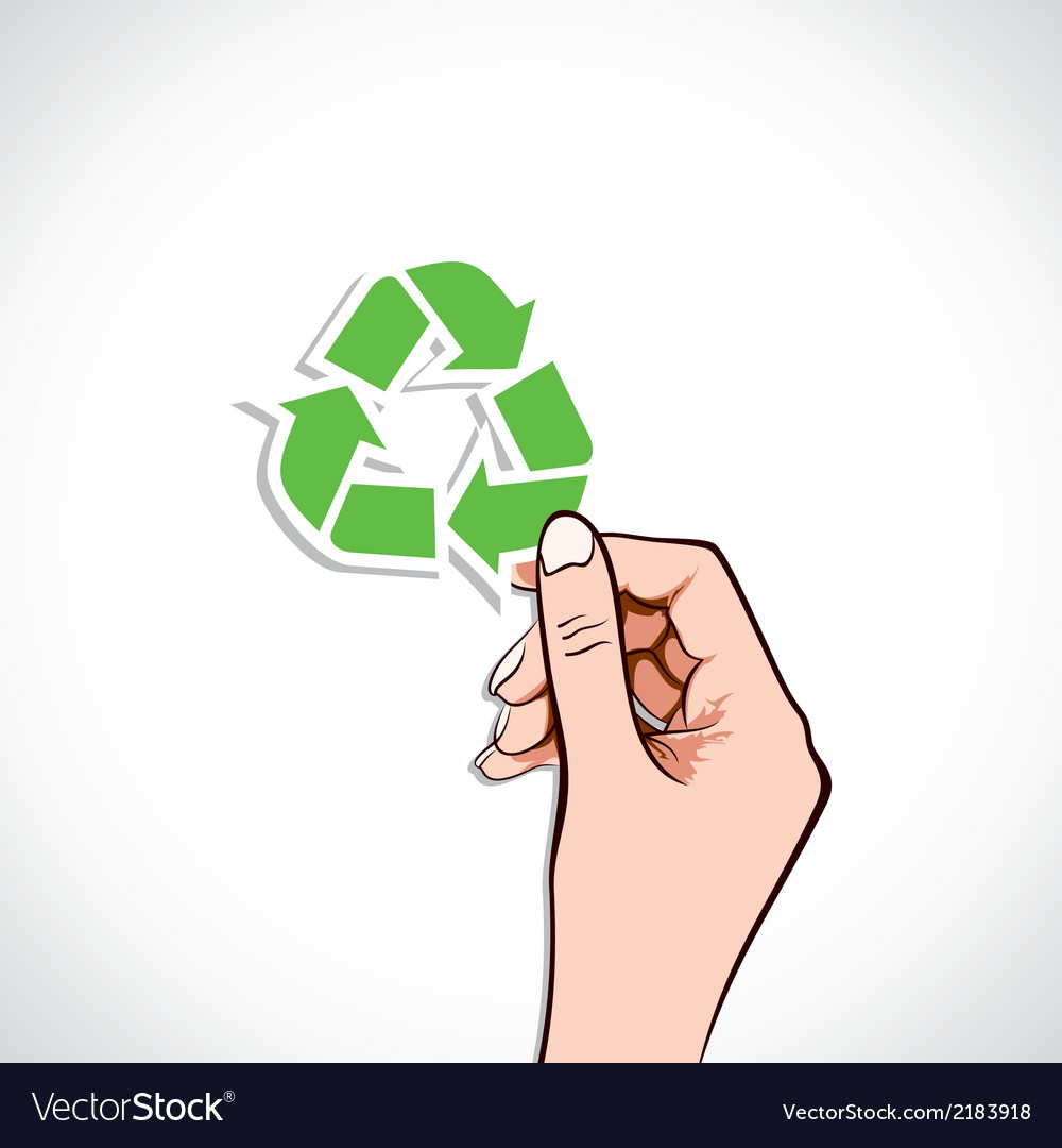 Recycle icon in hand vector | Price: 1 Credit (USD $1)