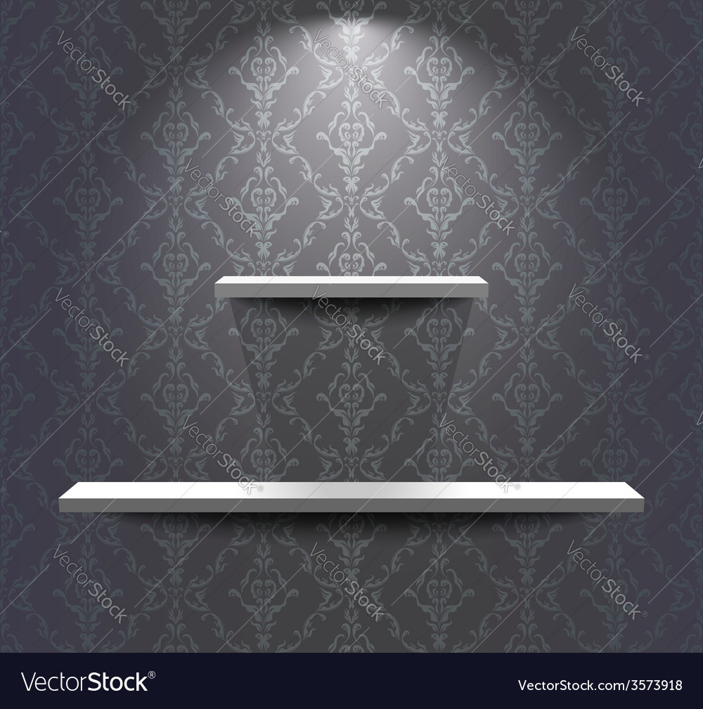 Shelves in the grey room vector | Price: 1 Credit (USD $1)