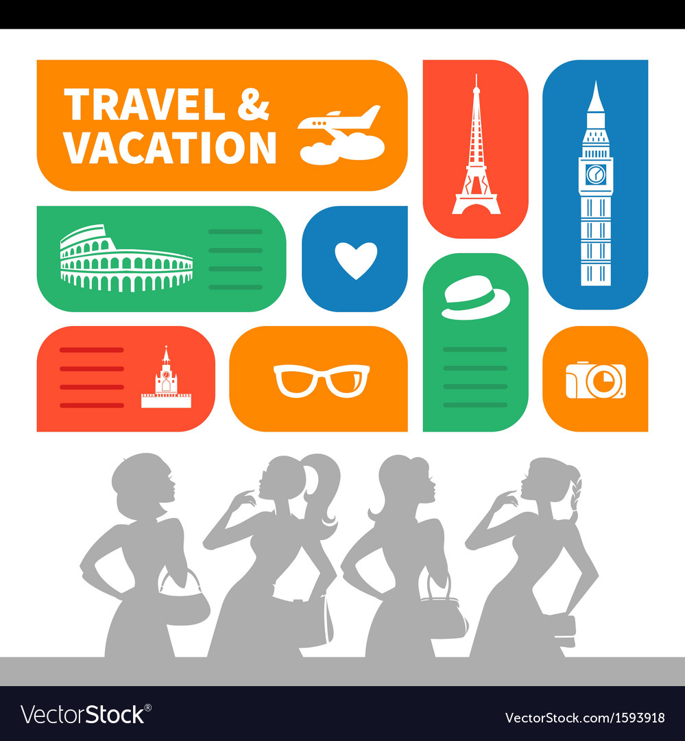 Travel and vacation shopping background vector | Price: 1 Credit (USD $1)