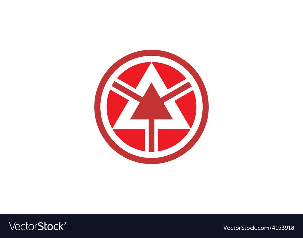 Triangle round arrow logo vector | Price: 1 Credit (USD $1)