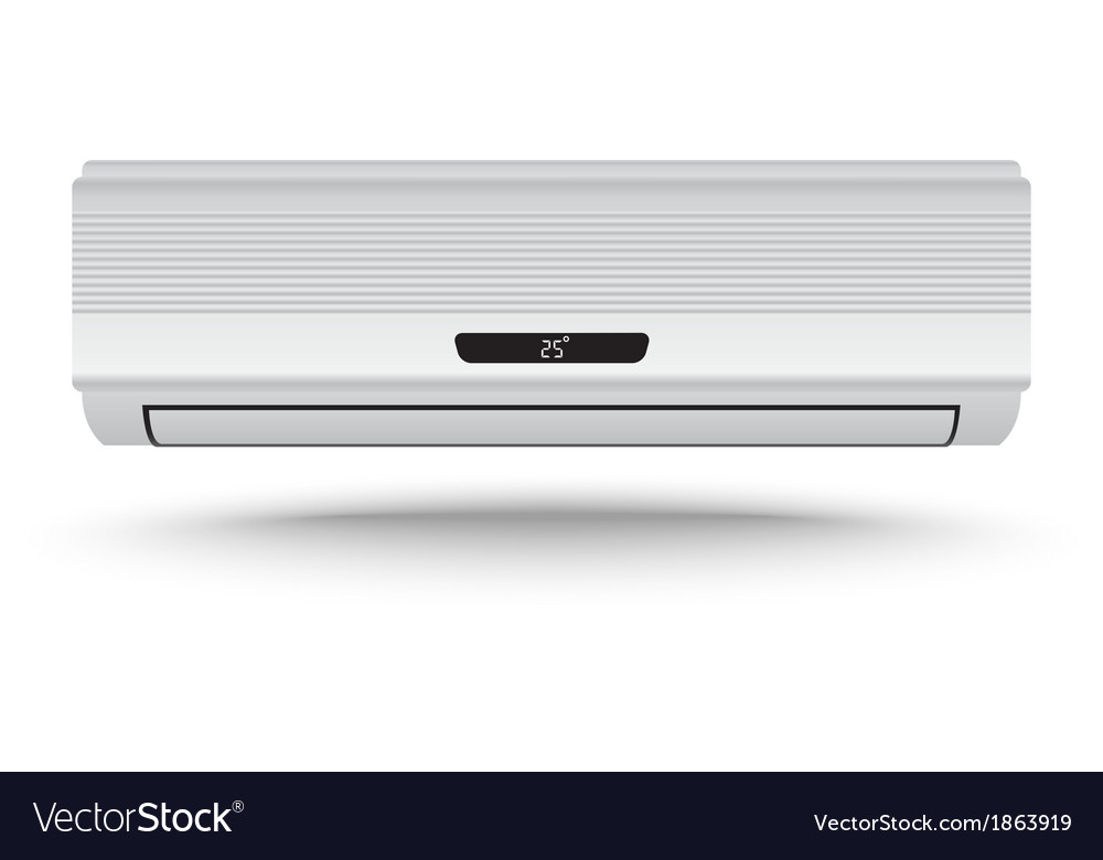 3d realistic air conditioner vector | Price: 1 Credit (USD $1)