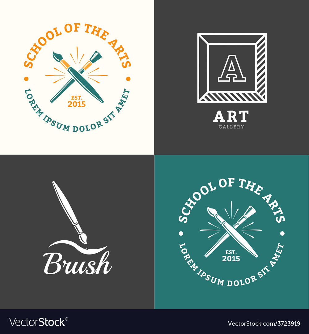 Brush logo vector | Price: 1 Credit (USD $1)