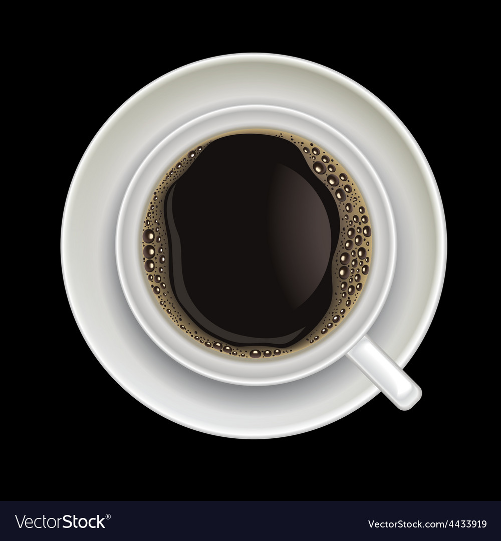 Coffee cup isolated on a black background vector | Price: 1 Credit (USD $1)