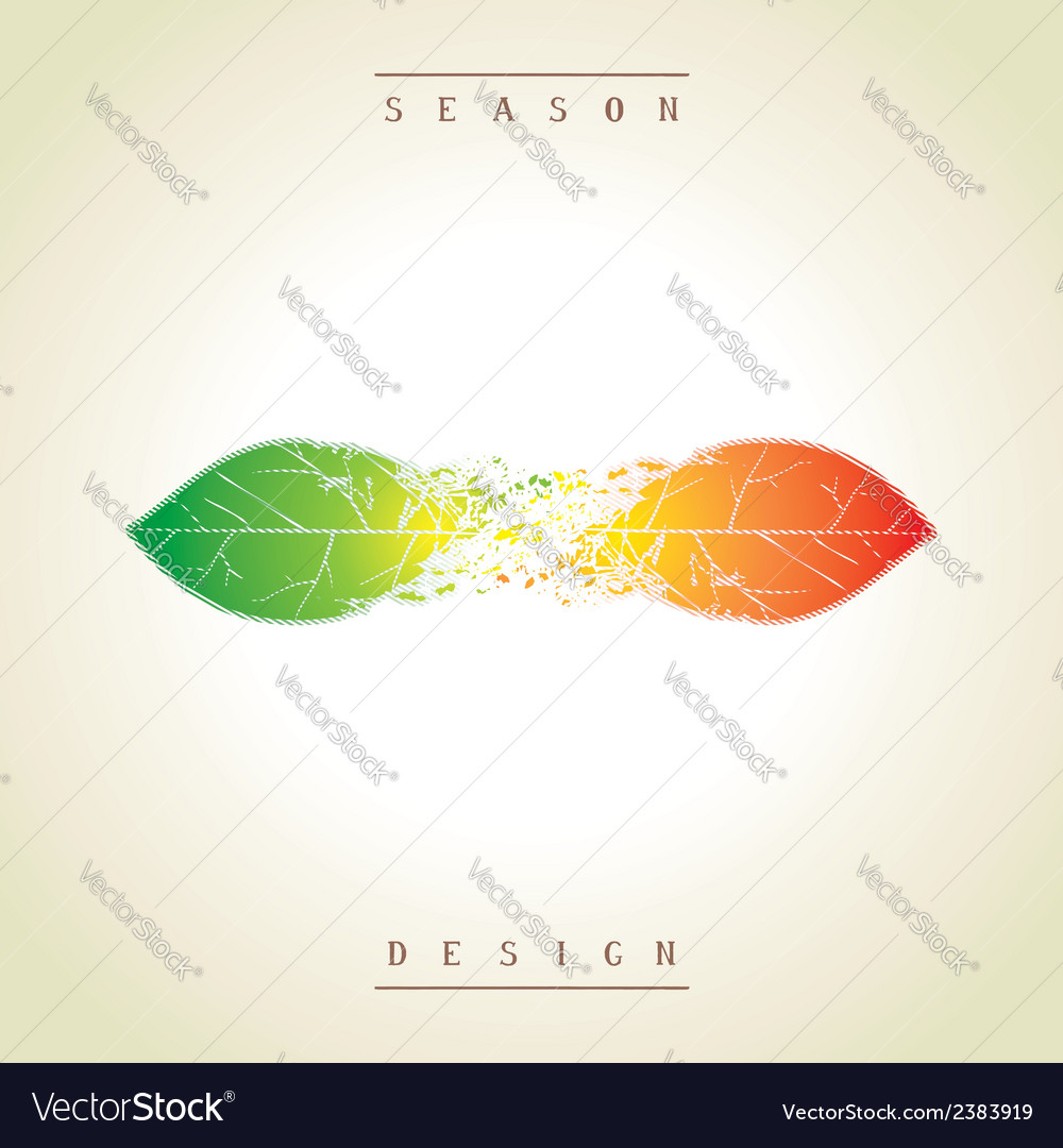 Demi seasonal creative design as the leaves vector | Price: 1 Credit (USD $1)