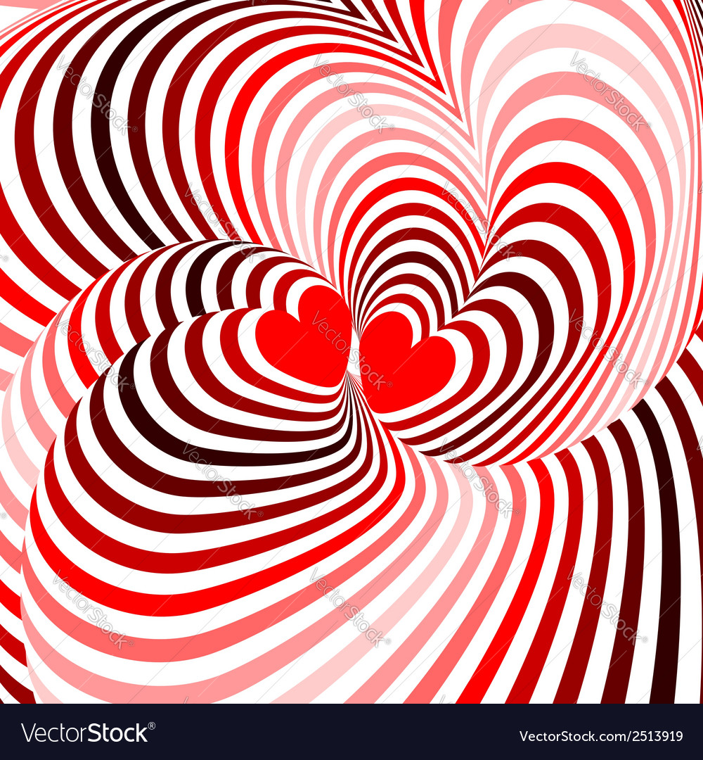 Design hearts twisting movement background vector | Price: 1 Credit (USD $1)