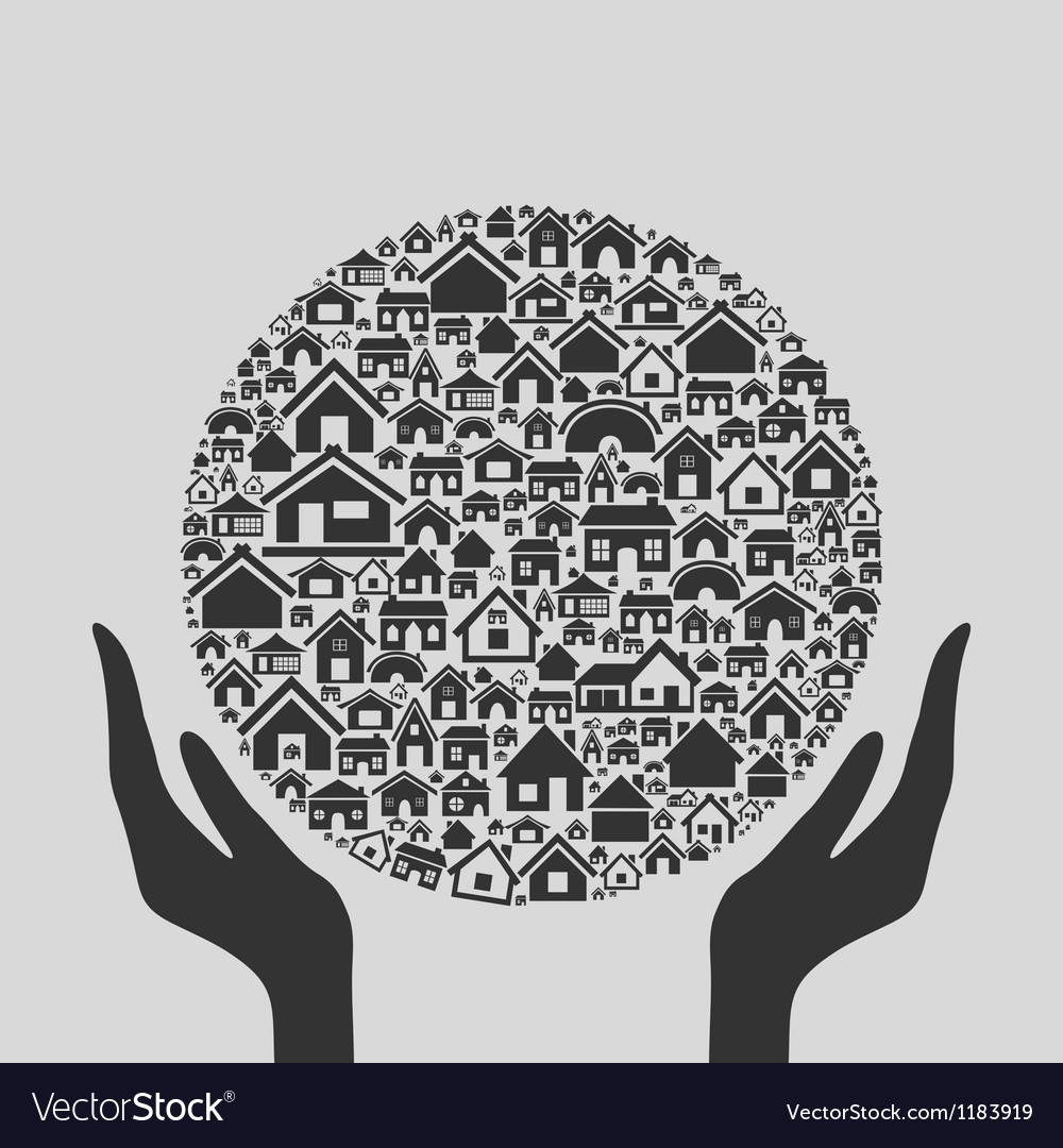 Hand the house3 vector   Price: 1 Credit (USD $1)